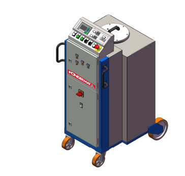Automatic line for flux injection